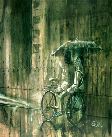 summer rain handcrafted artwork