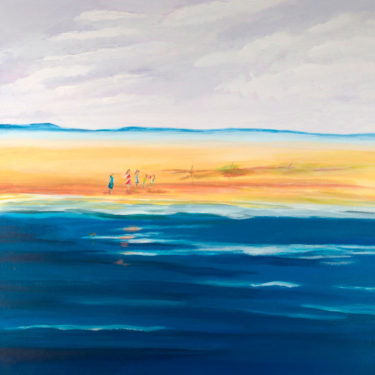Handcrafted artwork with the title 'Ocean View'